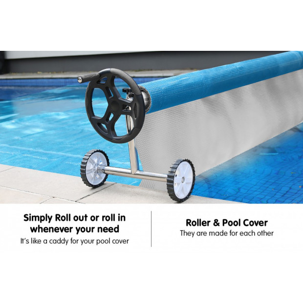 400micron Swimming Pool Roller Cover Combo - Silver/Blue - 11m x 4.8m Image 7