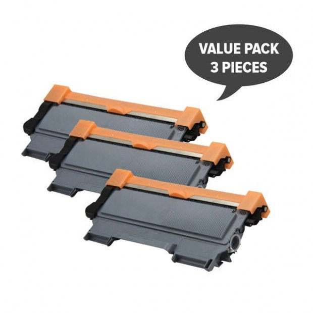 Black Generic Cartridge set of 3 to suit Brother TN-2250