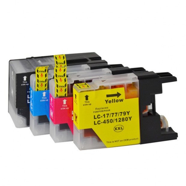 Compatible Inkjet Cartridges Set to suit Brother LC-77XL