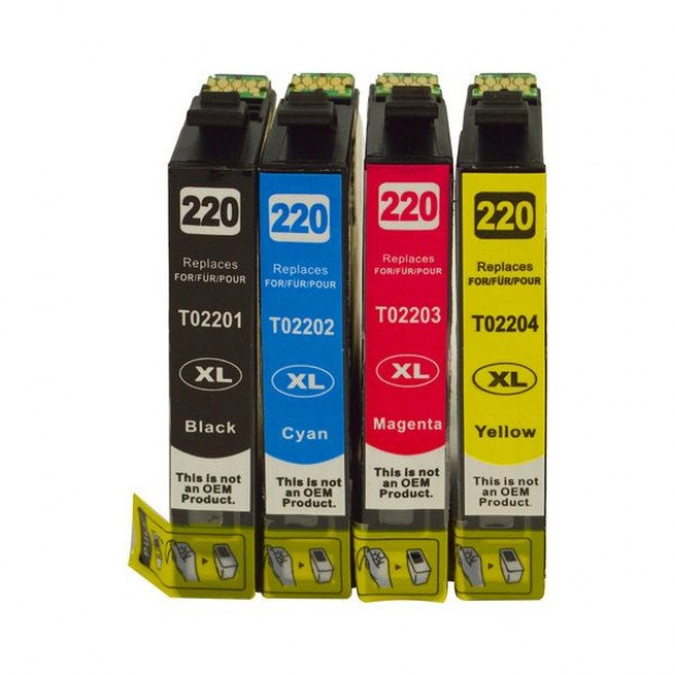 Premium Inkjet Cartridge Set to suit Epson 220 Series