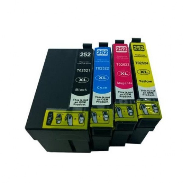 Inkjet Cartridge Set to suit Epson 252XL