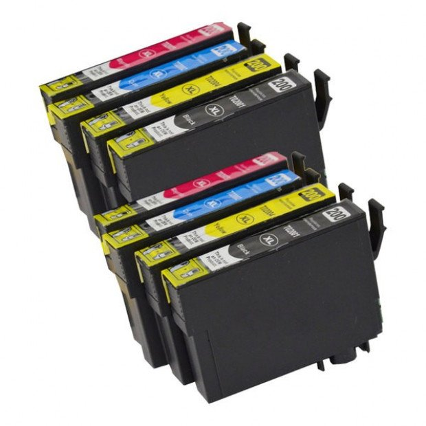 2x Premium Inkjet Cartridge Set to suit Epson 200XL
