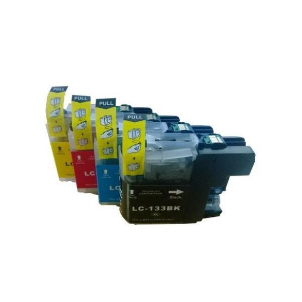 Compatible Inkjet Cartridge Set of 4 to suit Brother LC133