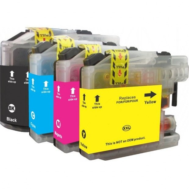 Compatible Inkjet Cartridge Set of 4 to suit Brother LC137, LC135
