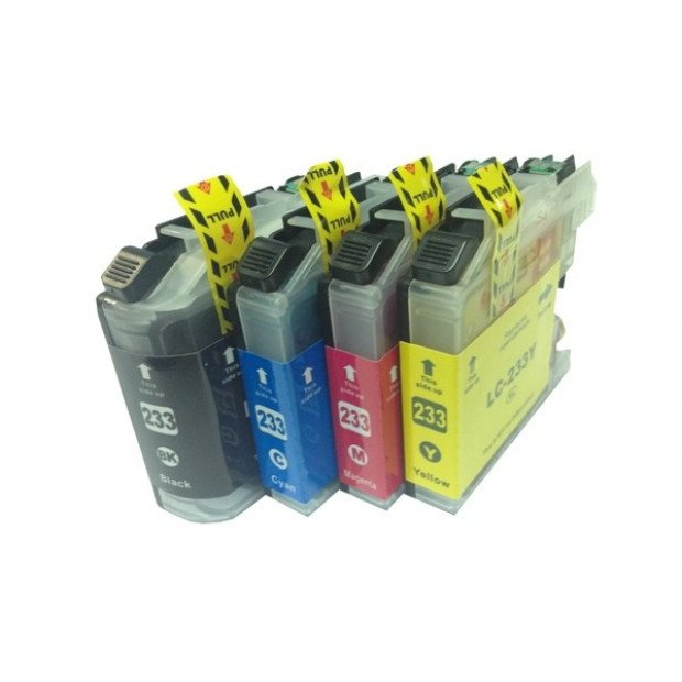 Premium Inkjet Cartridge Set of 4 to suit Brother LC-233