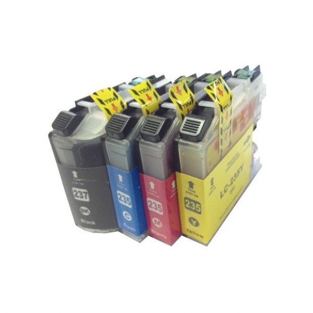 Inkjet Cartridge Set of 4 to suit Brother LC-237, LC-235