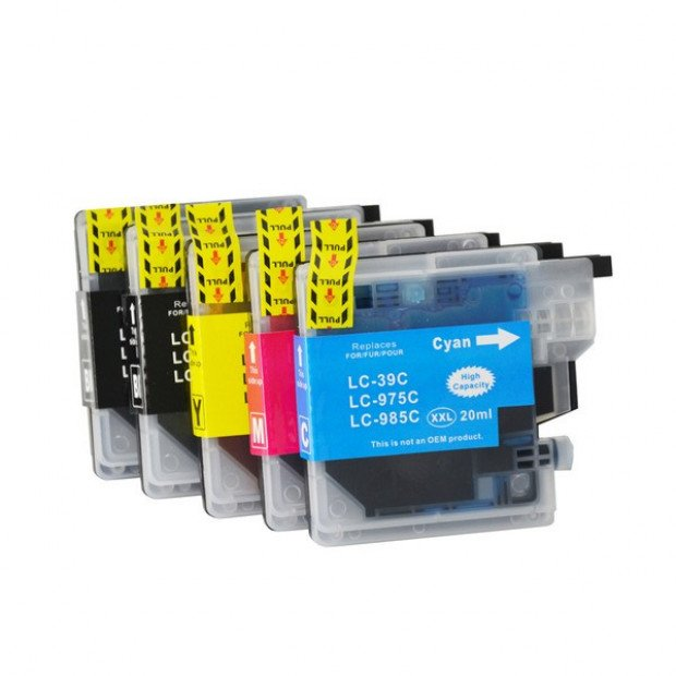 Compatible Inkjet Cartridge Set of 5 to suit Brother LC39