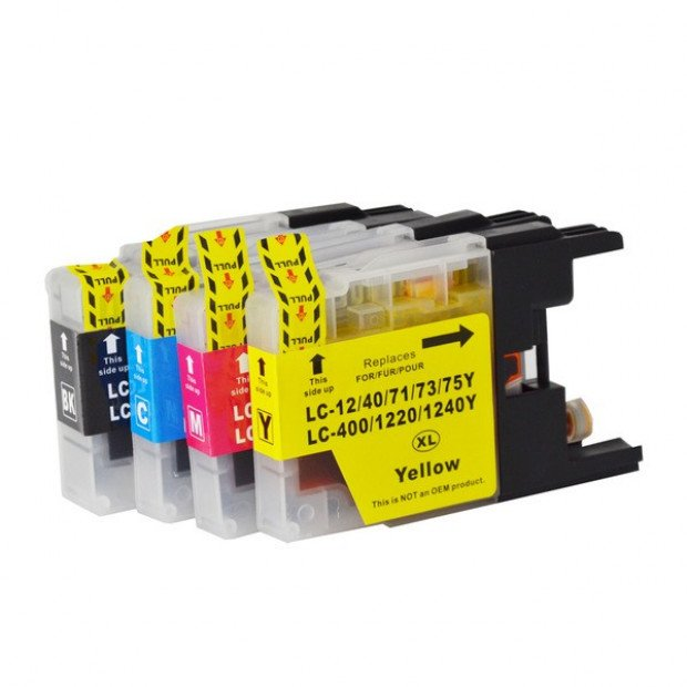 Compatible Inkjet Cartridge Set of 4 to suit Brother LC73XL