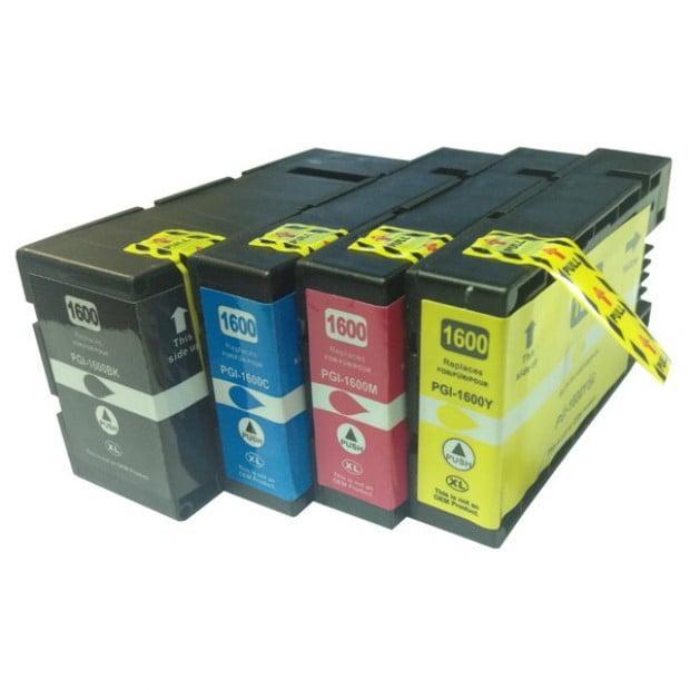 Premium Pigment Inkjet Cartridge Set of 4 to suit Canon PGI-1600XL