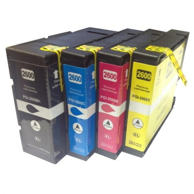Premium Pigment Inkjet Cartridges Set of 4 to suit Canon PGI-2600XL