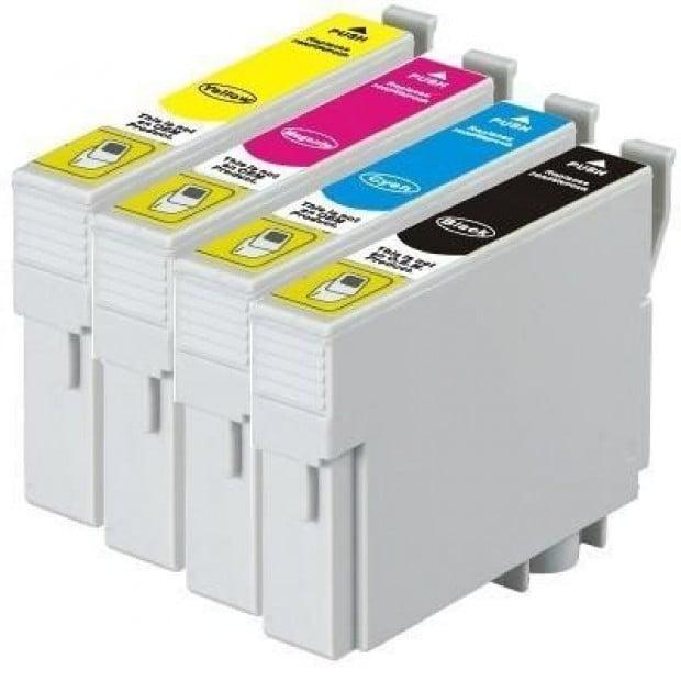 Pigment Inkjet Cartridge Set of 4 to suit Epson 138