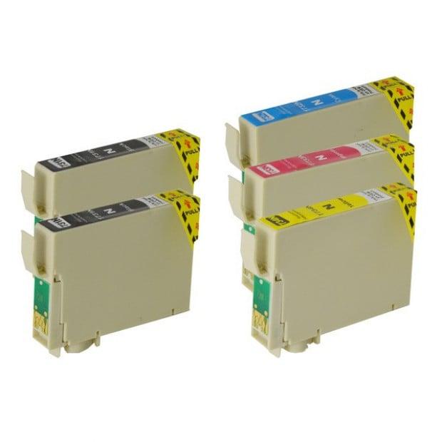Inkjet Cartridge Set of 5 to suit Epson 73N
