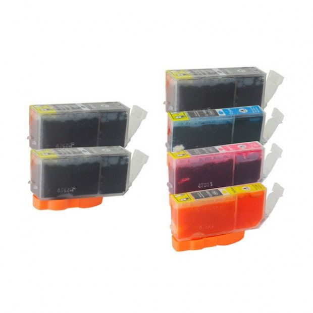 Inkjet Cartridge set of 6 to suit Canon PGI-520, CLI-521
