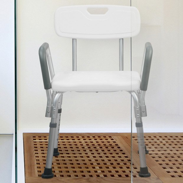 Orthonica Medical Shower tub Chair with Backrest & Armrest Seat