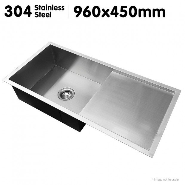 304 Stainless Steel Sink - 960 x 450mm