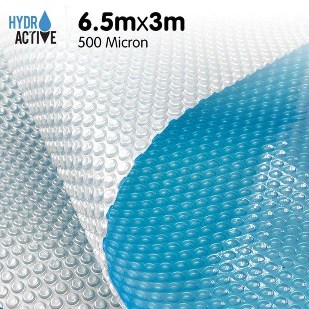 500 Micron Solar Swimming Pool Cover Silver/Blue - 6.5m x 3m