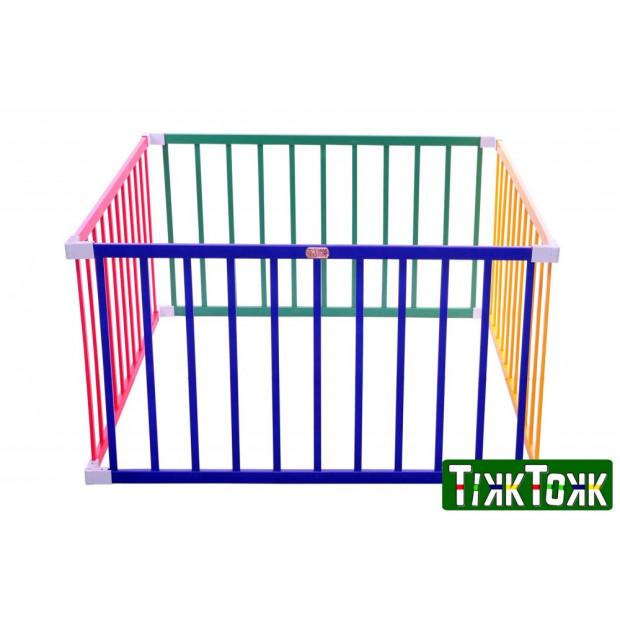 TikkTokk Little BOSS Playpen SQUARE, Coloured