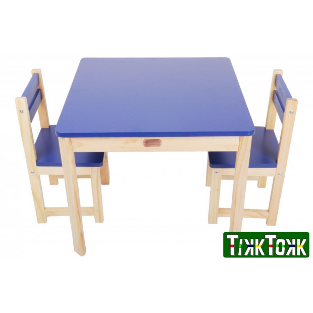 TikkTokk Little BOSS Table & Chairs Set - SQUARE Blue