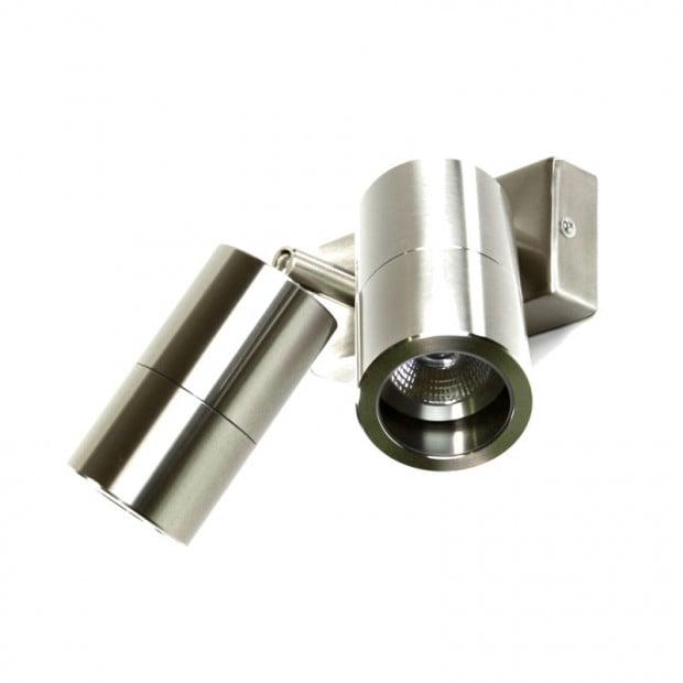 Double Spot Light - 240V LED - 3mm Marine Grade 316 Stainless Steel