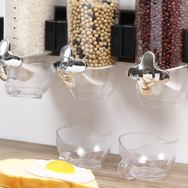 Wall Mounted Triple Cereal Dispenser Image 4