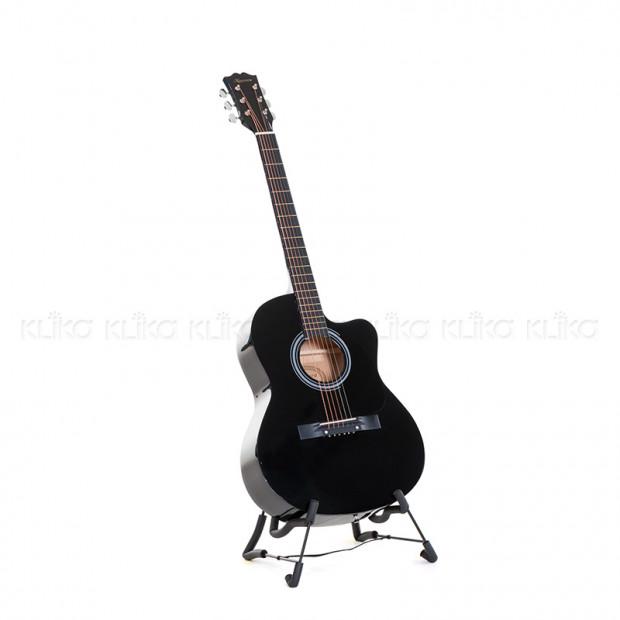 Karrera 40in Acoustic Guitar - Black