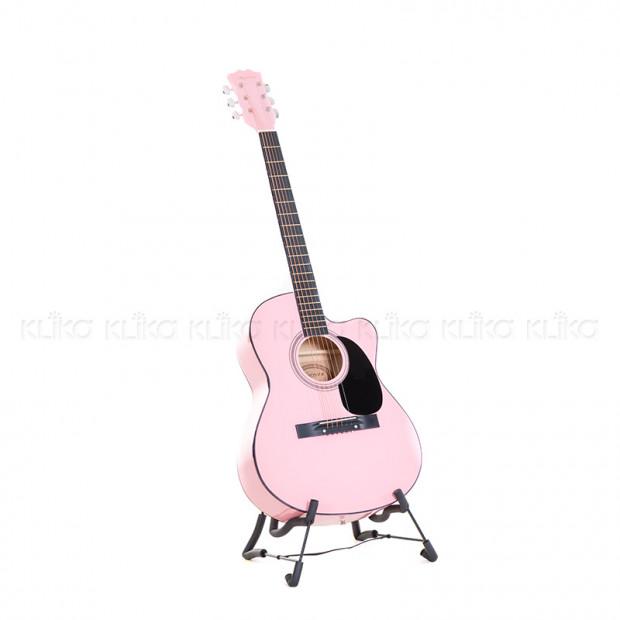 Karrera 40in Acoustic Guitar - Pink