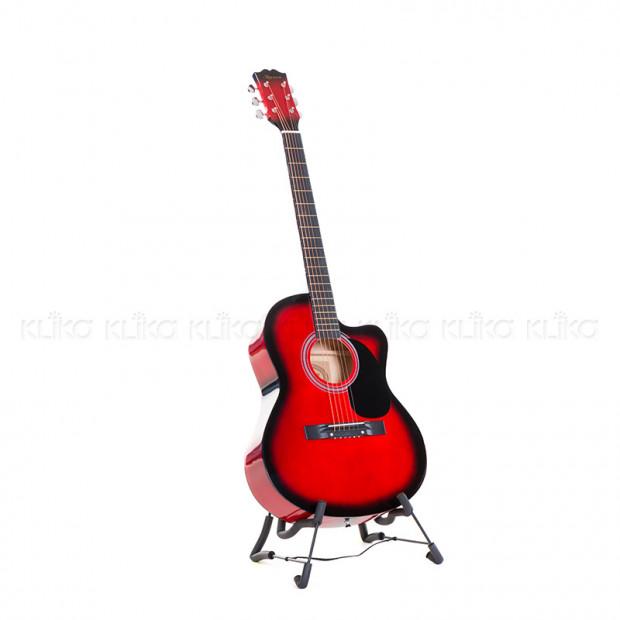 Karrera 40in Acoustic Guitar - Red