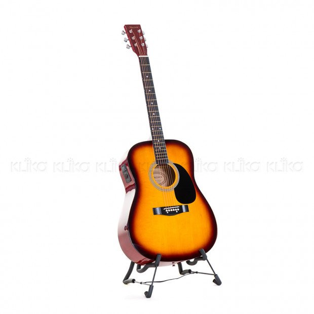 Karrera 41in Acoustic Guitar with EQ Band - Sunburst