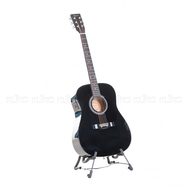 Karrera 41in Acoustic Guitar with EQ Band - Black