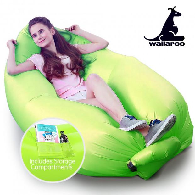 Wallaroo Inflatable Air Bed Lounge Sofa - Green