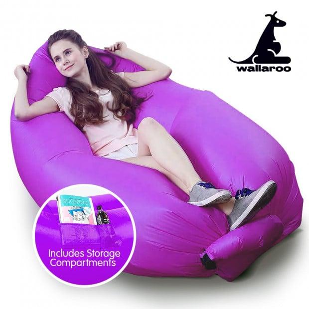 Wallaroo Inflatable Air Bed Lounge Sofa - Purple