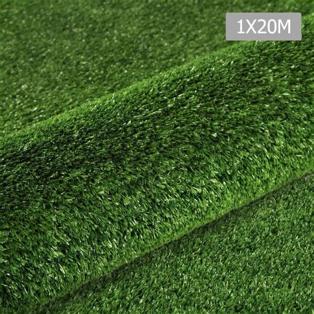Artificial Grass 20 SQM Polypropylene Lawn Flooring 15mm Olive