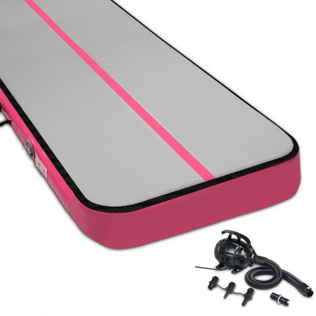 8MX1M Airtrack Inflatable  Tumbling Mat with Pump Gymnastics Pink
