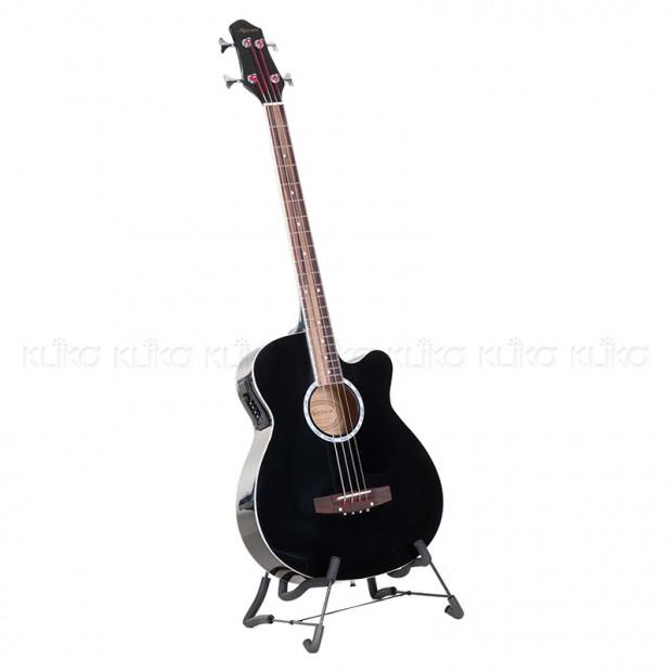 Karrera 43in Acoustic Bass Guitar - Black