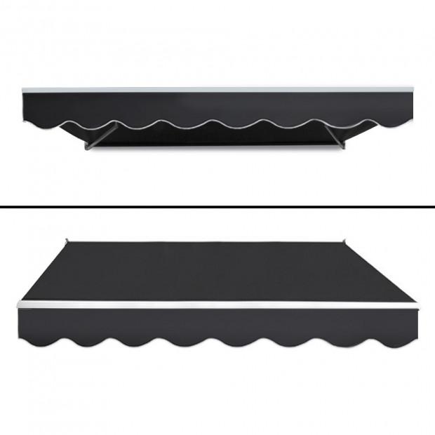 Instahut Motorised 2x1.5m Folding Arm Awning - Grey Image 2