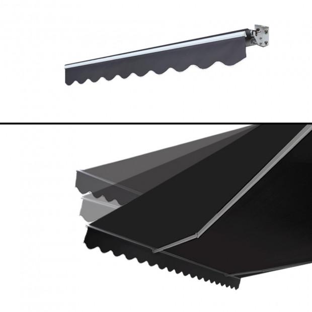 Instahut Motorised 2x1.5m Folding Arm Awning - Grey Image 3