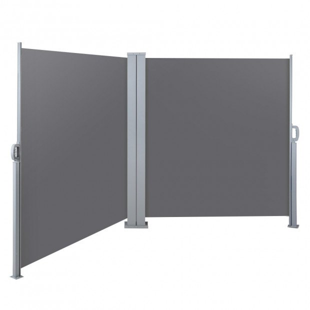 1.8X6M Retractable Side Awning Garden Patio Shade Screen Panel Grey