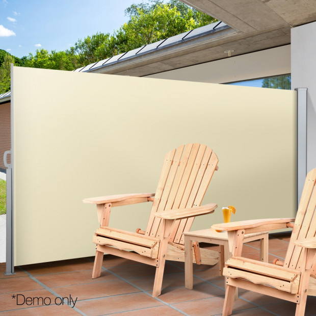Instahut Retractable Side Awning Shade 2 x 3m - Beige Image 7
