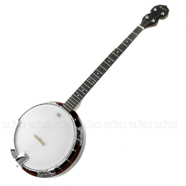 5 String Resonator Banjo Brown