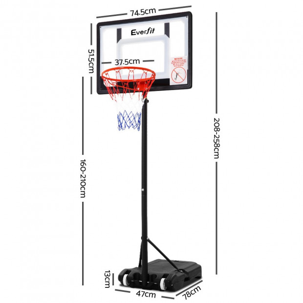Adjustable Portable Basketball Stand Image 2