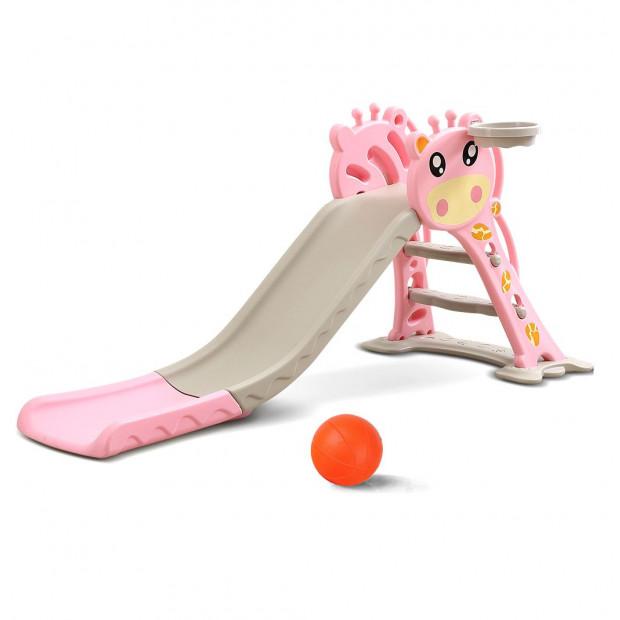 BoPeep Kids Slide Basketball Ring Activity Center Play Set Pink