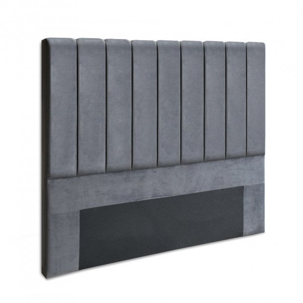 Queen Size Fabric Bed Headboard - Charcoal