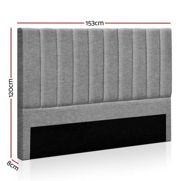 QUEEN Size Bed Head SALA Headboard for Base Frame Linen Upholstered Image 1