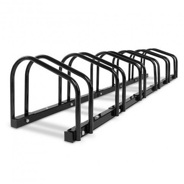 Portable Bike Parking Rack 6 Bay - Black