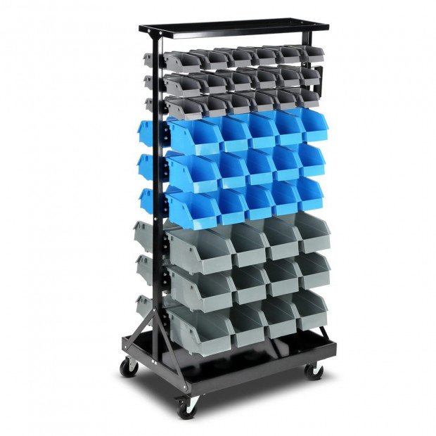 90 Bins Storage Rack Warehouse Garage Shelving