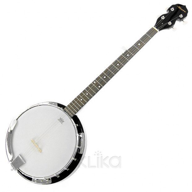 5 String Resonator Banjo Black