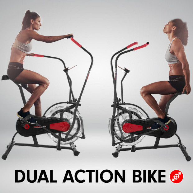 PowerTrain Air Resistance Exercise Bike Spin Fan Equipment Cardio Image 1