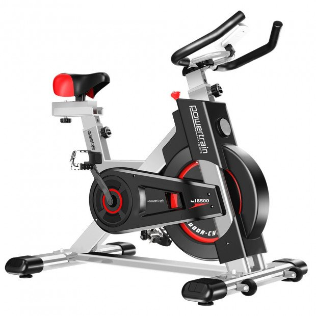 Powertrain Heavy Duty Exercise Spin Bike Electroplated IS-500 - Silver Image 1