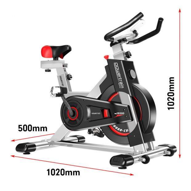 Powertrain Heavy Duty Exercise Spin Bike Electroplated IS-500 - Silver Image 11