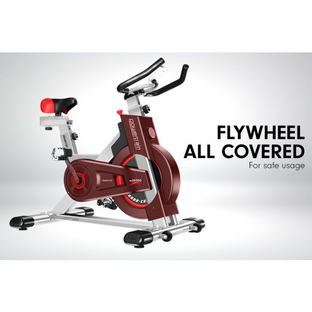 Powertrain Heavy Duty Exercise Spin Bike Electroplated IS-500 - Silver Image 10
